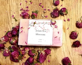Asian Tea Blossom Cold Process Soap Bar; Love, Grounding