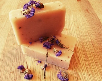 African Violet & Juniper Berries Cold Process Soap Bar; Love , Peace and Protection