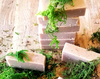 Vanilla and Oak Moss Cold Process Soap Bar; Love, Grounding