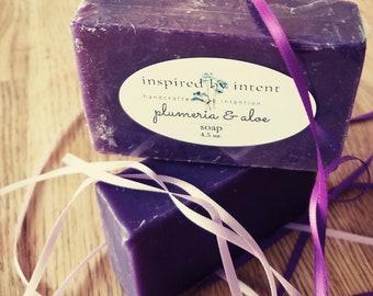 Plumeria & Aloe Cold Process Soap; Self-Esteem, Romance and Harmony