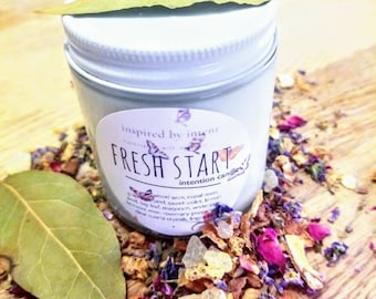 Fresh Start Candle | Intention | Intentions | Boho | Soy Wax | Herbal Infused | Cleansing | Purification | Ritual | New Year | Imbolc