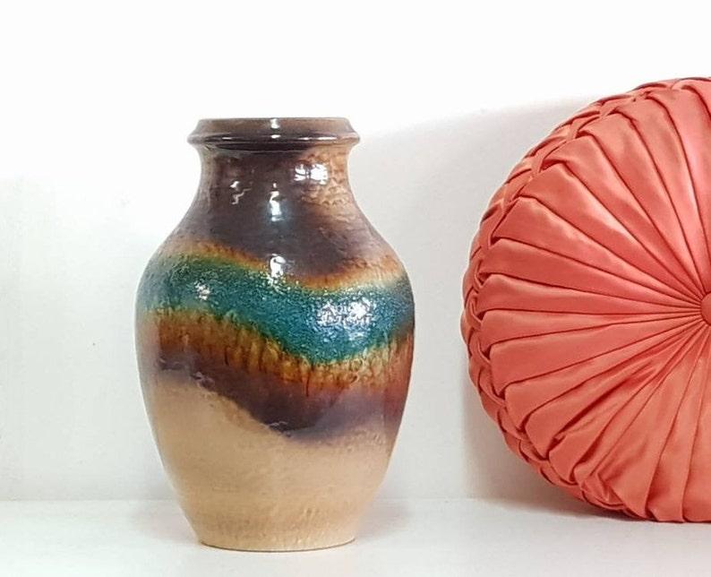 Vintage Vase Carstens Tönnieshof West German Pottery Mid Century Modernist  Ceramic  Large Retro Fat Lava Mid Century Decor