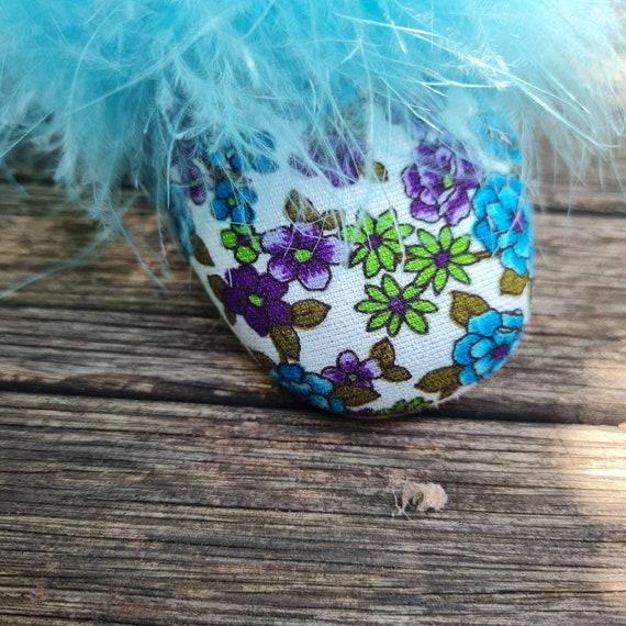 Vintage Boudoir Slippers. Retro Floral House Slip… - image 5