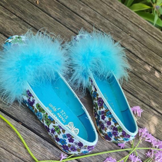 Vintage Boudoir Slippers. Retro Floral House Slip… - image 8