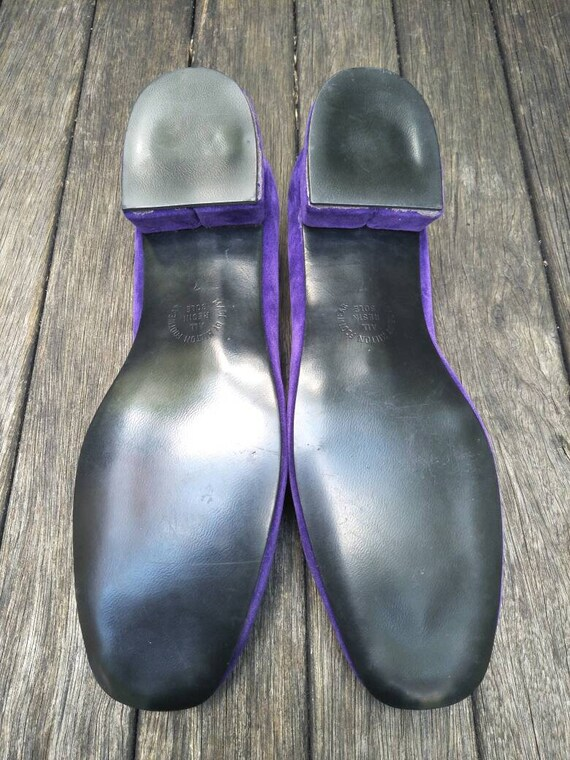 Vintage Boudoir Slippers. Retro Royal Purple Hous… - image 10