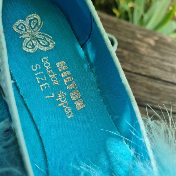 Vintage Boudoir Slippers. Retro Floral House Slip… - image 4