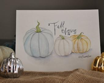 Fall Blessings Pumpkins