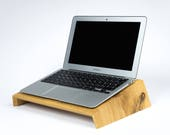 Laptop stand of oak wood...