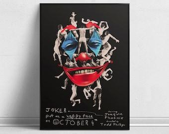 Joker - Alternative Movie Poster by Aleksander Walijewski // Print, Art, Film, Crime, Drama, Thriller