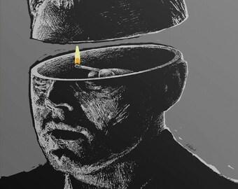 Shutter Island - Alternative Movie Poster by Aleksander Walijewski // Print, Art, Film,Drama, Thriller