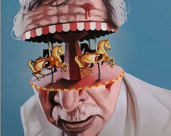 The Amusement Park - Official Movie Poster by Aleksander Walijewski // George A. Romero // Print, Art, Film, Drama, Horror, Thriller