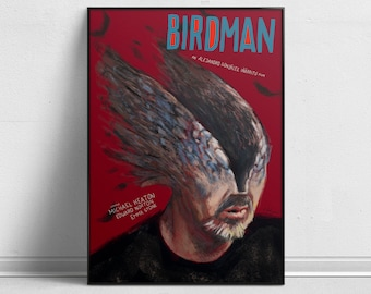 Birdman - Alternative Movie Poster by Aleksander Walijewski // Print, Art, Film, Drama