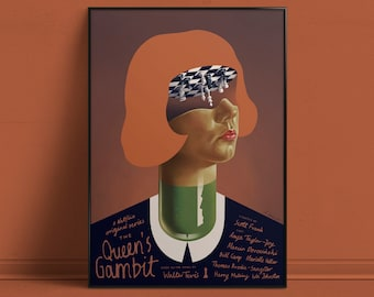 The Queen's Gambit by Aleksander Walijewski // Print, Art, Series, Poster, Netflix, Drama, Chess
