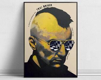 Taxi Driver - Alternative Movie Poster by Aleksander Walijewski // Print, Art, Film, Crime, Drama