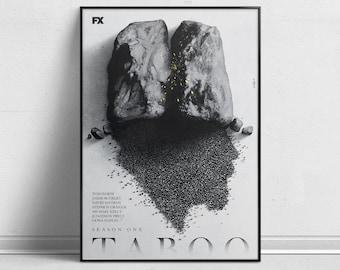 Taboo/Tom Hardy - Alternative TV Show Poster by Aleksander Walijewski // Print, Art, Drama