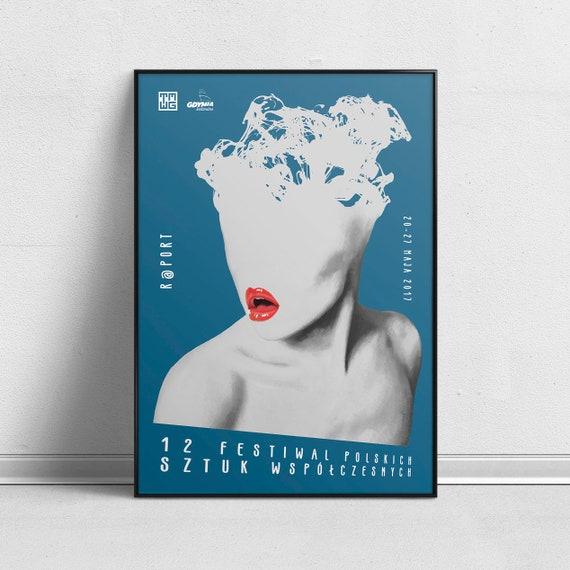 Cultural 12th Festival of Polish Contemporary Plays R@Port Theatre Art Poster by Aleksander Walijewski  Print