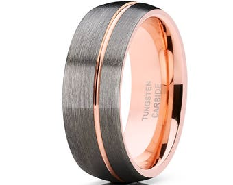 gunmetal Tungsten Wedding Band c7b2bd057