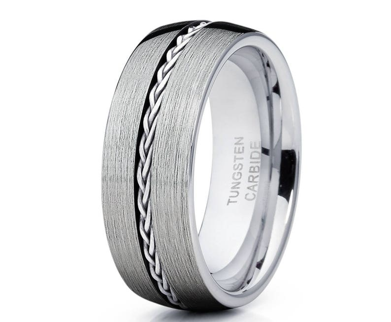 Perfect Gift Fine Jewelry Designed For Maximum Comfort Fit For Men And Women Use Friends of Irony Tungsten Carbide Celtic Eagle Ring 8mm Wedding Band And Anniversary Ring