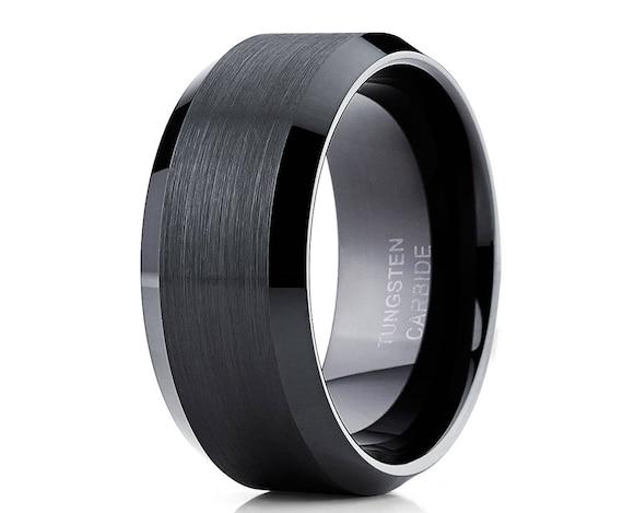 Tungsten Wedding Ring,Silver Tungsten Ring,Anniversary Ring,Men /& Women,Tungsten Carbide Ring,Silver Tungsten Wedding Ring,Beveled Rings