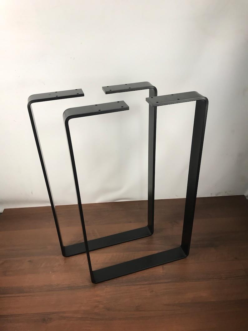 Astonishing Metal Table Legs Hairpin Legs Table Legs Mid Century Modern Hairpin Table Legs Industrial Set Of Two 2 Wide Flat Bar Interior Design Ideas Tzicisoteloinfo