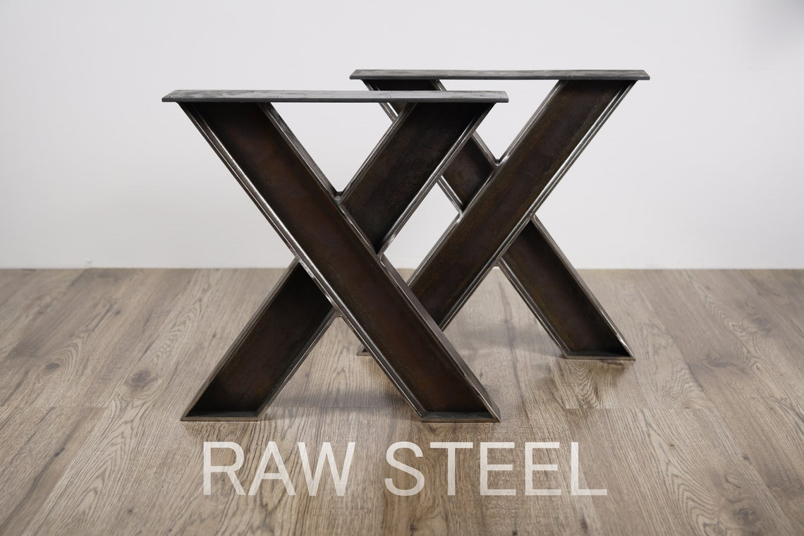 Industrial X legs, X shape bench legs, X Bench Legs, Bench Legs, X Legs, Coffee Table Legs, Table Leg, X Table Legs, Set of 2, #B010