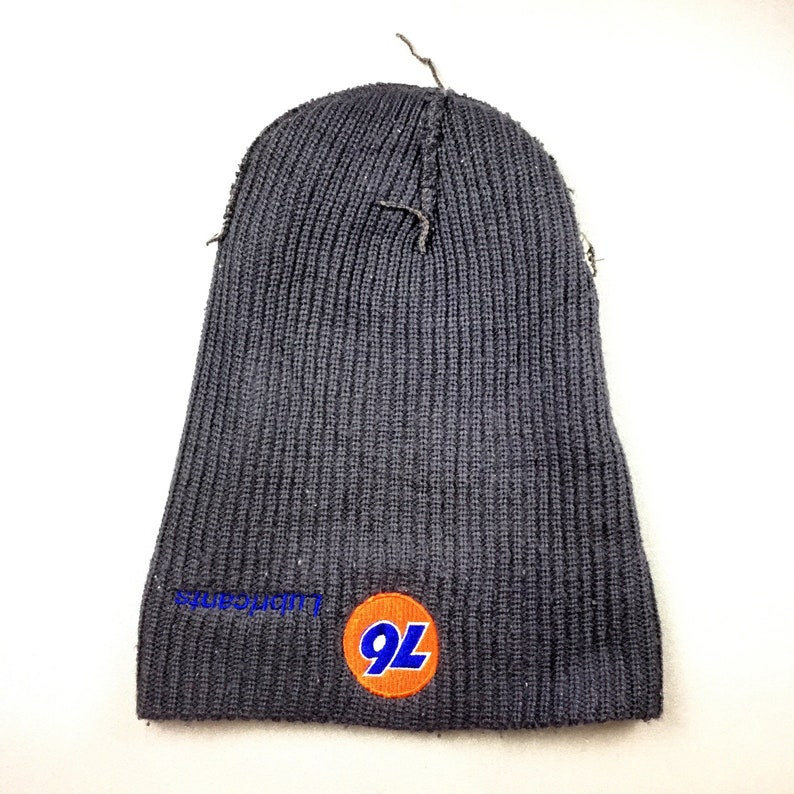 1bf8b794b2d 76 LUBRICANTS HAT ski beanie plain dark grey color vintage 90s
