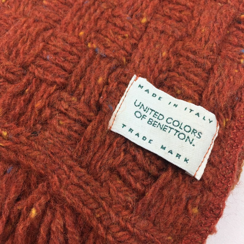 UNITED COLORS of BENETTON scarf muffler rare wool beautiful color made in italy
