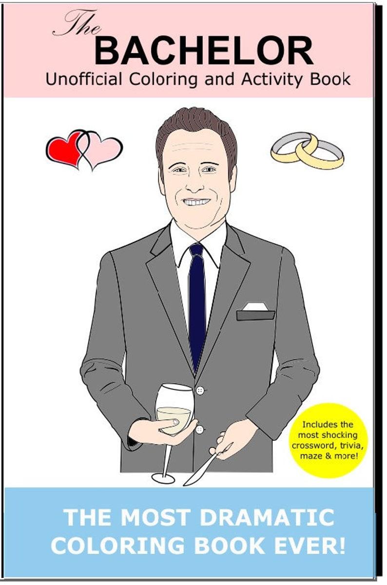 The Bachelor Coloring Book Chris Harrison Colton Pilot Pete image 0