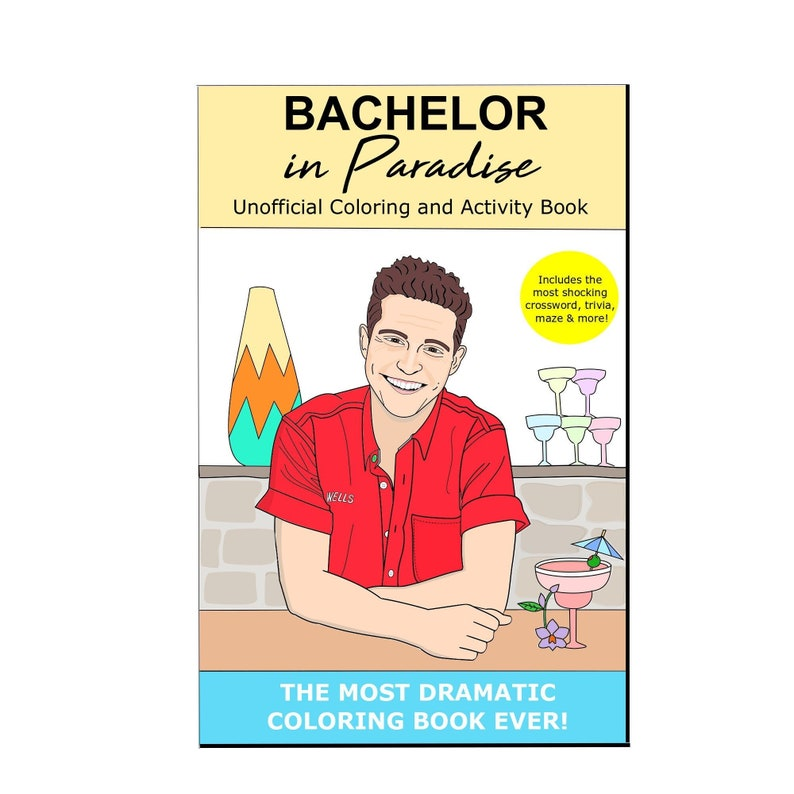 The Bachelor Coloring Book  Bachelor In Paradise Coloring image 0