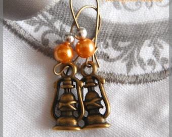 bronze Lantern earrings