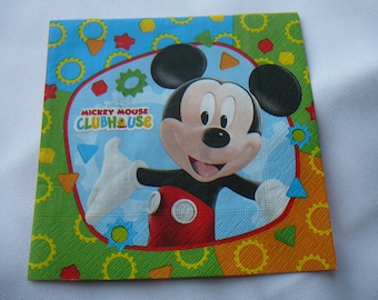 Mickey mouse - decoupage napkin, decopatch and scrapbooking.