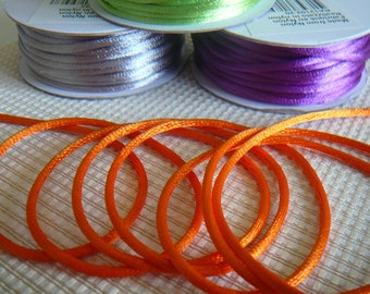 Tail of rat, silky satin cord diameter 2 mm - orange