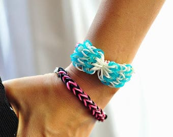 ~ 200 green elastics for Rainbow Loom bracelets ~