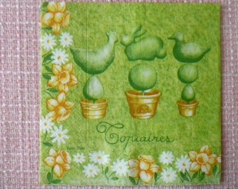 Decopatch / decoupage / Scrapbooking - towel plant, Topiary