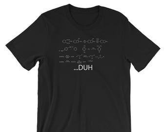 Chemistry Equation Duh Novelty T Shirt