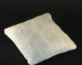 Lavender hand woven silk cushion
