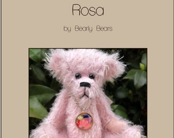 Rosa pattern - PDF Instant download - 16cm artist teddy bear, create your own collectible