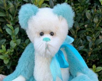 Opal   Collectible teddy bear   Colourful panda bear   Artist teddy bear