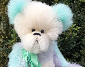 Caspian   Collectible artist teddy bear   Alpaca teddy bear   Bearly Bears