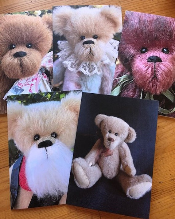 pack of 5 featuring Bearly Bears/' teddy bears Greeting cards