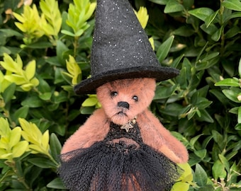Tamsyn - a a good-witch bear, collectible miniature teddy bear