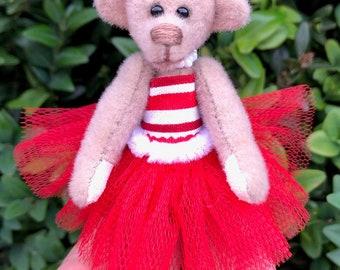 Kristy ballerina Bear, collectible miniature teddy bear