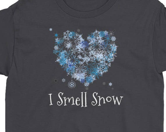 I Smell Snow Winter Lover Christmas Youth Short Sleeve T-Shirt
