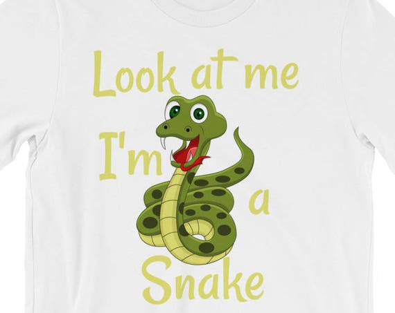 Look At Me I'm A Snake - Funny Short-Sleeve Unisex T-Shirt