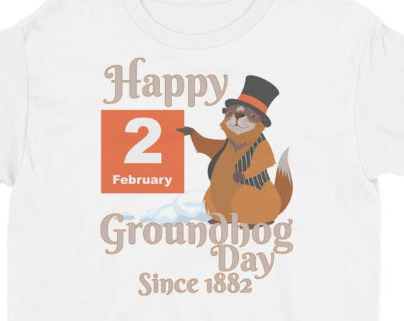 Groundhog Day T-Shirt - Happy Groundhog Day 2018 Youth Short Sleeve T-Shirt