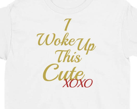 I Woke Up This Cute Diva Humor Youth Short Sleeve T-Shirt