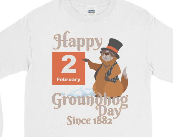Groundhog Day T-Shirt - Happy Groundhog Day 2018 Long Sleeve T-Shirt