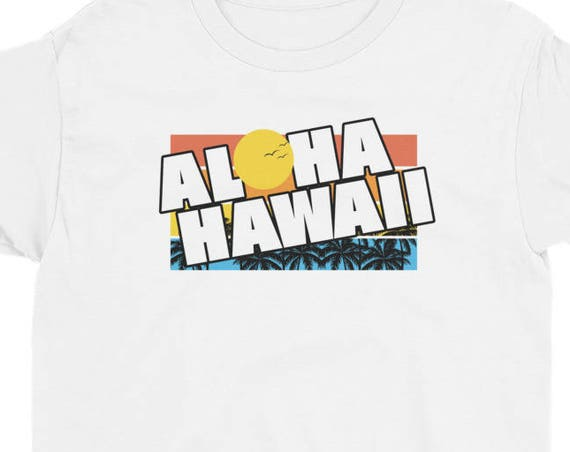 Hawaiian Islands Tee Hawaii Aloha State Youth Short Sleeve T-Shirt