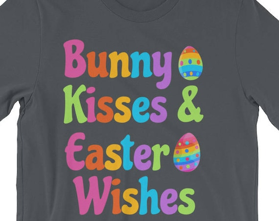 Bunny Kisses & Easter Wishes Easter Bunny Egg Hunt Short-Sleeve Unisex T-Shirt