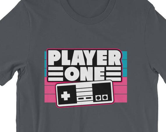 Matching Family Shirt Player 1 Video Game Short-Sleeve Unisex T-Shirt